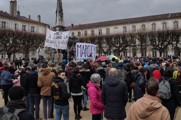 Près de 1500 personnes réunies pour la marche pour le climat à Nancy ce samedi 8 décembre.