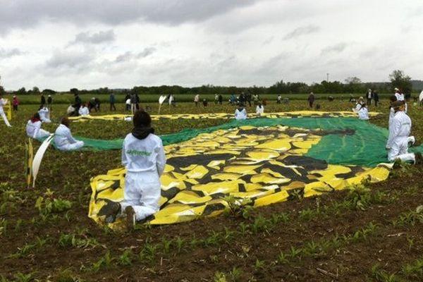 Action des faucheurs volontaires à Saubens ce 2 mai 2014