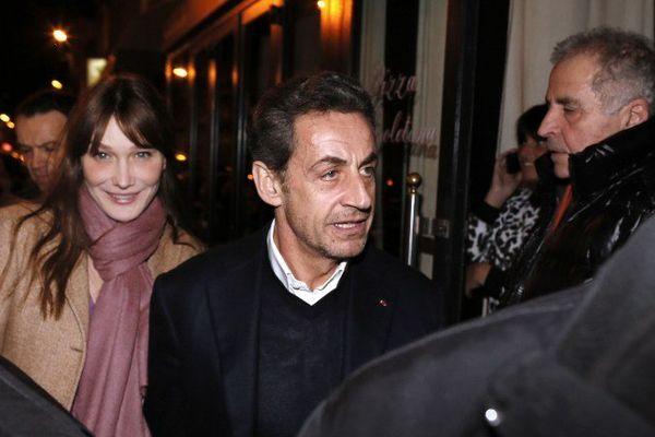 Carla Bruni et Nicolas Sarkozy le 28 janvier 2013