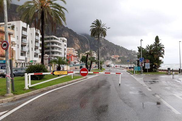 Menton : la promenade Reine Astrid est fermée à la circulation.