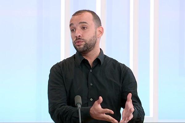 Yann Mongaburu a annoncé sa candidature à la présidence de Grenoble-Alpes métropole sur le plateau de France 3 Alpes.