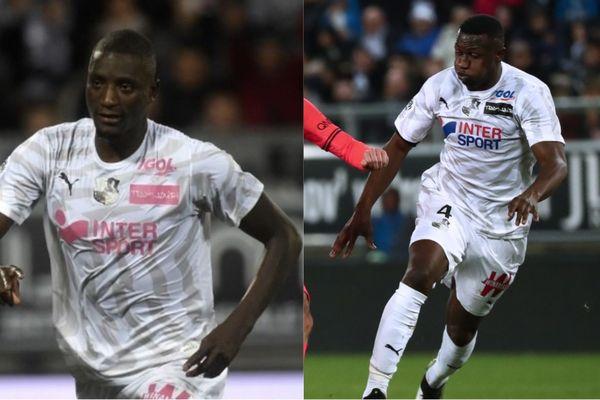 Serhou Guirassy et Nicholas Opoku lors de matchs de l'Amiens SC