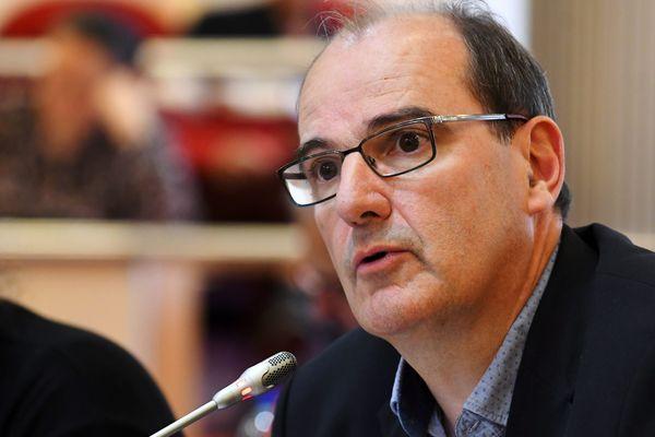 Jean Castex, au conseil départemental des Pyrénées-Orientales en 2019.