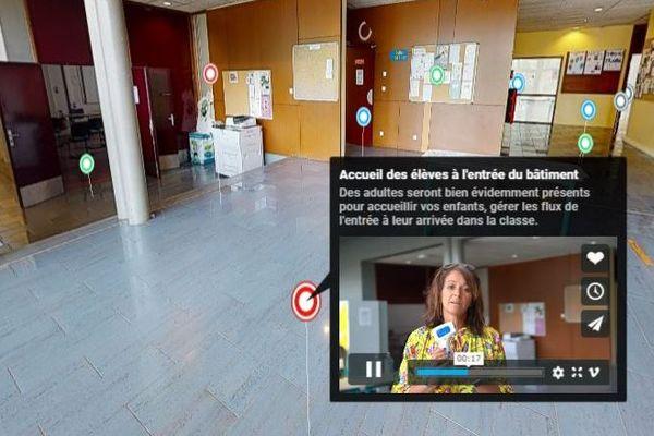 Frédérique Thérain a fait appel à Médias studio pour réaliser la visite virtuelle de son collège.