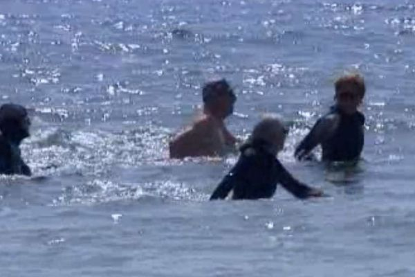 Des randonneurs aquatiques à la Seyne-sur-Mer.
