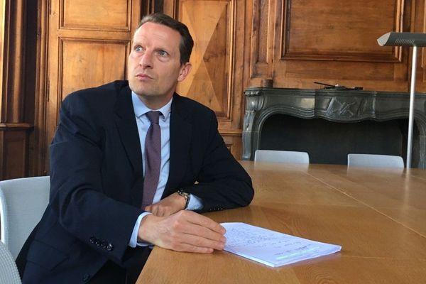 Le procureur de Haute-Saône dans son bureau de Vesoul