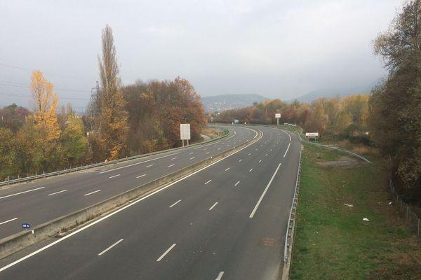 L'A43 déserte... scène inhabituelle