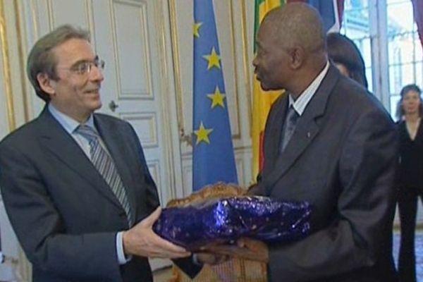 Novembre 2008 : Roland Ries recevait le président du Mali à l'hôtel de Ville de Strasbourg