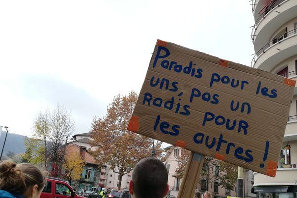 Les pancartes de la colère annéciennes