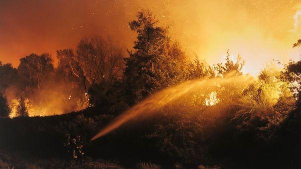 Le centre culturel Una Volta à Bastia accueille l'exposition Incendies pendant un mois.