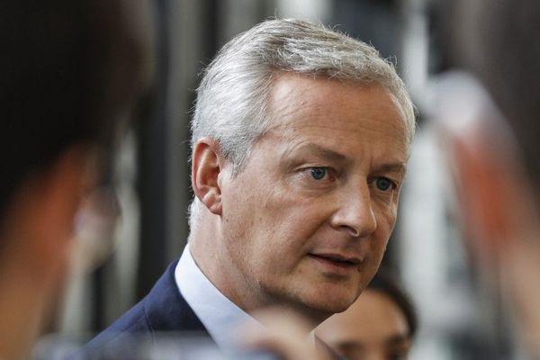 Le ministre de l'Economie et des FInances Bruno Le Maire