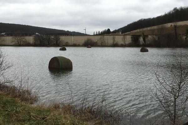 La prison de Clairvaux sous l'eau, dimanche 7 janvier 2018