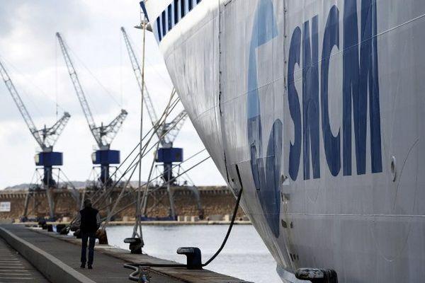 Port de Marseille, le 9 janvier 2014