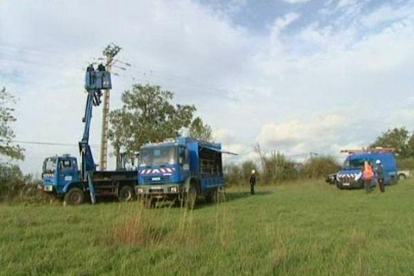 1000 techniciens d'ERDF restent mobilisés ce samedi.