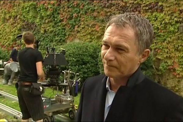 Bruno Wolkowitch en tournage à la Cité de Carcassonne