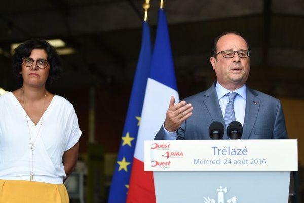 François Hollande à Trélazé (Maine-et-Loire), le 24 août 2016.