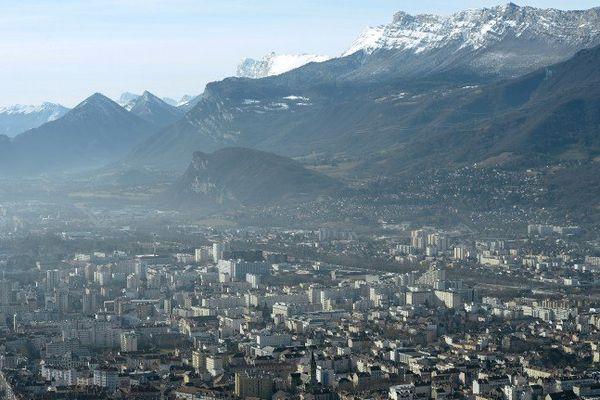 Grenoble photographiée depuis La Bastille en 2014. (Photo d'illustration)