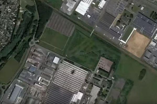 L'emplacement du terrain que convoite Amazon à Mondeville.