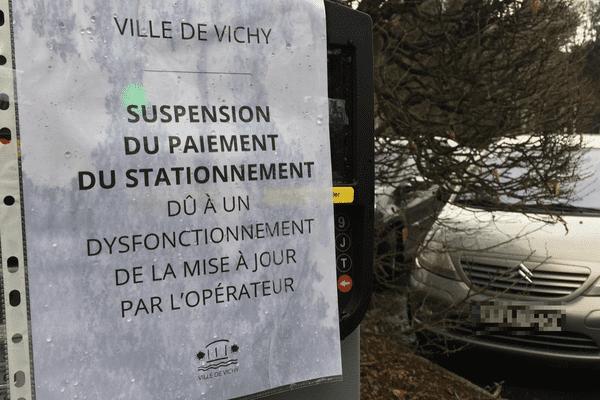 Depuis plusieurs jours, le stationnement est gratuit à Vichy (Allier). La faute à un bug informatique des horodateurs.