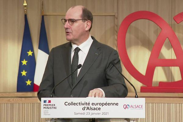 Jean Castex, ce samedi 23 janvier, à Colmar