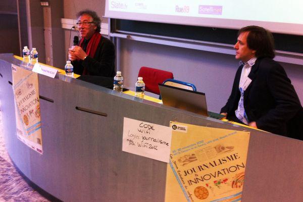 Jacques Walter et Arnaud Mercier, professeurs à l'Université de Lorraine à Metz.
