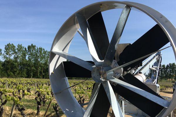 Une éolienne comme celle-ci coûte 35 000 euros. Un investissement qui permet de sauver une partie des récoltes.