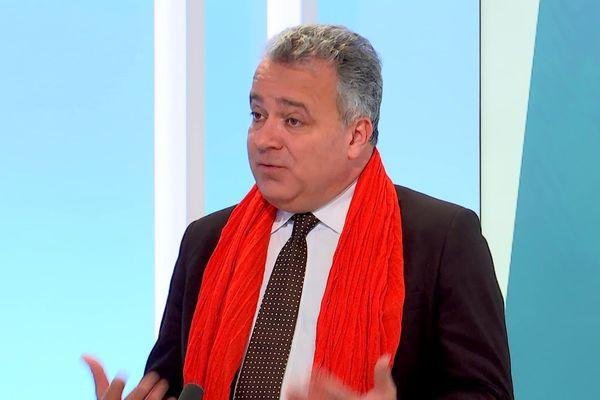 Denis Broliquier, maire sortant du 2e arrondissement de Lyon, candidat centriste à la Ville de Lyon pour les municipales 2020. Invité du 12/13 Rhône-Alpes (20/2/20)