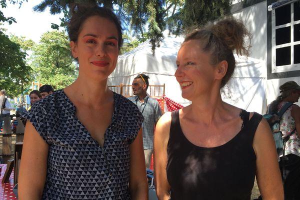 """Sophie Moreau et Ameline Bernard : les 2 comédiennes du spectacle """"Les machines de Sophie"""""""