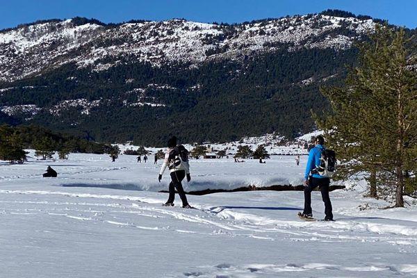 Sous un soleil radieux, les randonneurs ont profité de l'activité ce dimanche 17 janvier à Gréolières-les-Neiges.