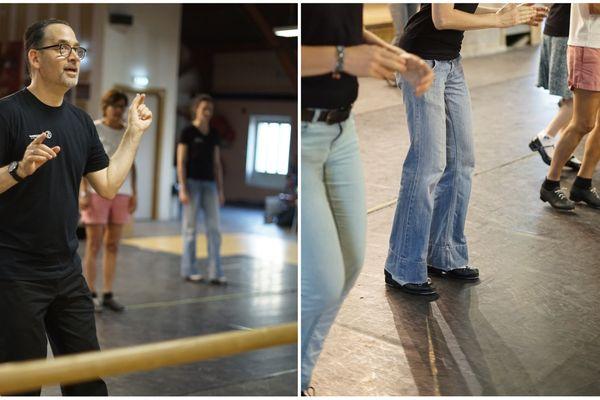 """""""Ça va, vous êtes au taquet ?"""", lance Steeve Zee avant d'inonder la salle d'un petit swing. Mais sous ses airs cool et décontracté, le danseur américain ne sous-estime pas le travail du pédagogue."""