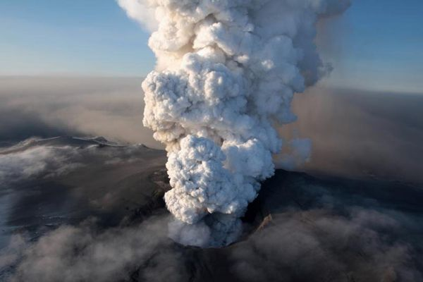 le volcan islandais Bárdarbunga à l'origine de la pollution aux particules fines sur notre région.