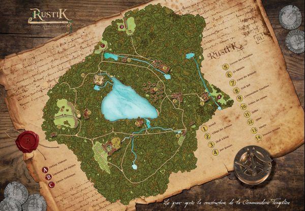 Un plan du parc Rustik tel qu'il devrait être proposé aux visiteurs à partir d'avril 2021