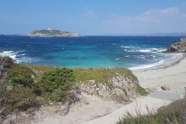 La plage des Allemands, crique emblématique des îles des Embiez.