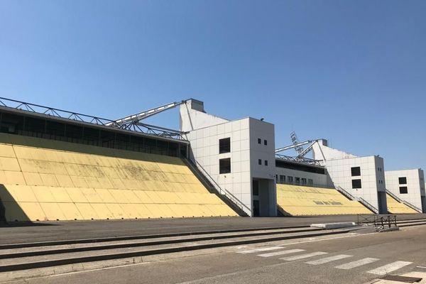 Le stade des Costières de Nîmes pendant le confinement.