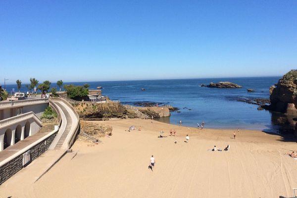 La plage du Port-vieux, une plage familiale et sans tabac à Biarritz