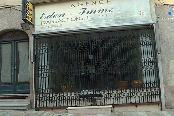 Un commerce bastiais fermé. La survie d'un commerce du centre-ville de Bastia est de 18 mois en moyenne pour certaines boutiques. Jeudi 14 février 2019