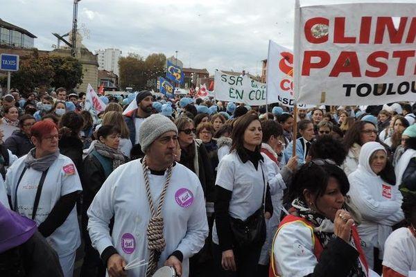 Manifestation des hospitaliers