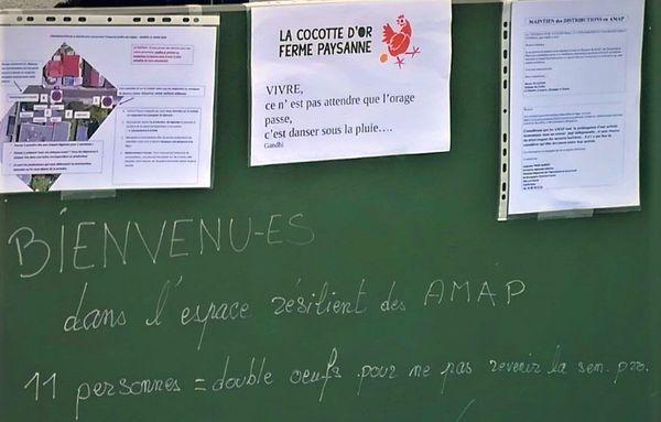 L'AMAP Les Jardins de Virgile à Dijon a décidé de continuer ses livraisons, malgré l'épidémie de coronavirus COVID-19.