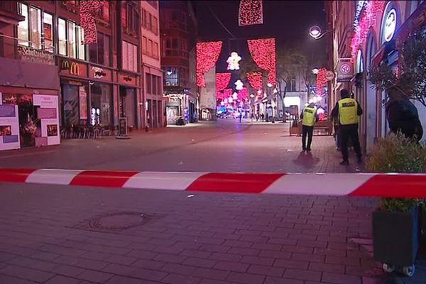Strasbourg centre vide suite à l'attentat de mardi 11 décembre 2018