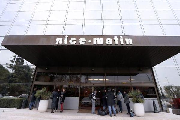 L'entrée du groupe Nice-Matin (Archives)