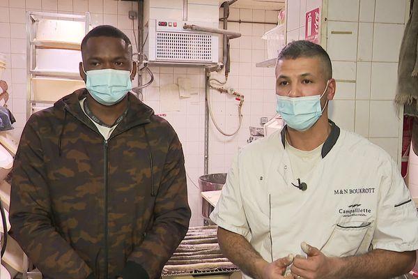 Mamadou Sacko a débuté son apprentissage en septembre 2019 dans la boulangerie de Miloud Boukortt.