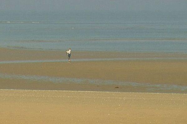 La plage de Houlgate, dans le Calvados