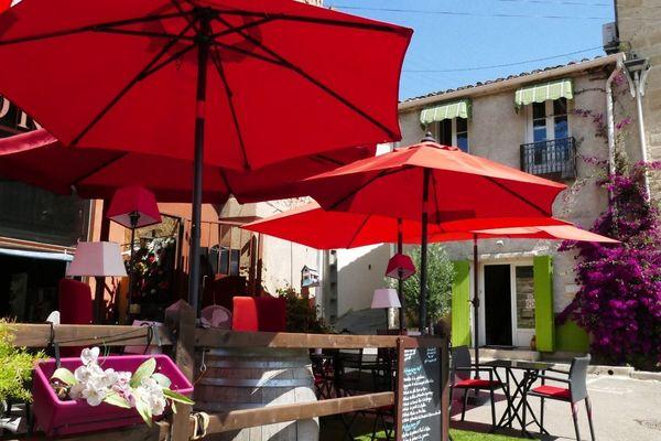L'un des 6 restaurants de Gallargues-le-Montueux, village gardois, prêt a accueillir à nouveau les clients, ce mardi 2 juin 2020