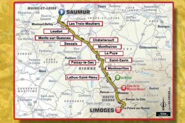 L'étape du Tour de France traversera 11 communes de la Vienne