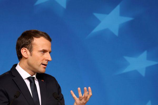 Le passage d'Emmanuel Macron (ici en février 2018 à Bruxelles) en Aslace sera centré sur les questions européennes.