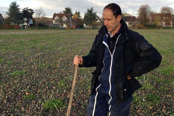 Olivier Coupery, agriculteur à Montfort-l'Amaury (Yvelines), veut notamment lutter contre l'agribashing.