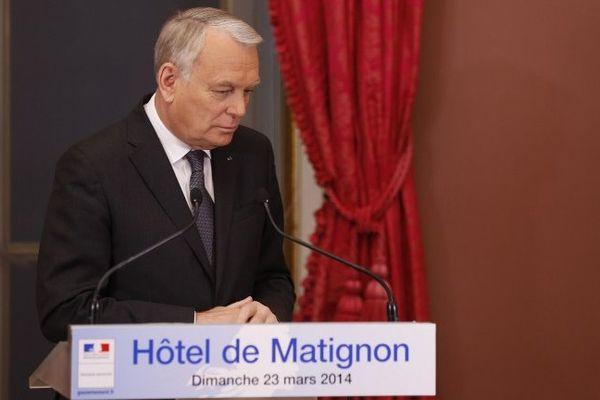 Jean-Marc Ayrault et son discours critiqué  dimanche soir à l'hôtel Matignon.