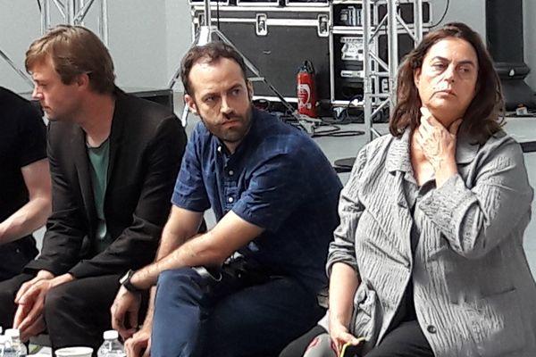 Conférence de presse de Benjamin Millepied et Maja Hoffmannà Arles