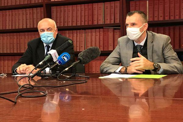 Pierre Sennès, procureur de la République de Nantes et Marc Perrot commissaire divisionnaire PJ Nantes