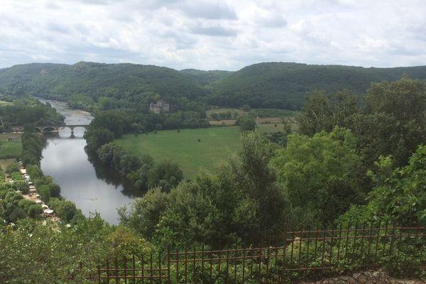 La vallée de la Dordogne, vue du château de Beynac